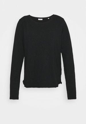 LONGSLEEVE CREWNECK - Long sleeved top - black