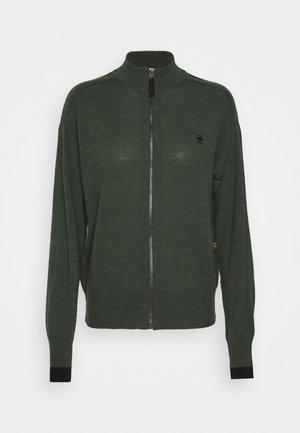 CORE ZIP THRU - Vest - dark bronze green