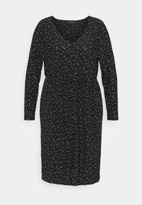 Evans - POLKADOT PLEATED DRESS - Denní šaty - black - 5