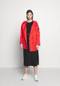 Calvin Klein - MID THIGH - Parka - orange odyssey - 1
