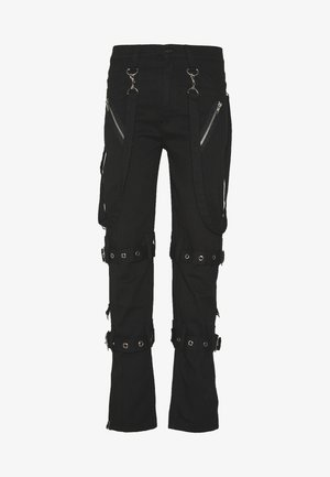 PUNK TROUSERS - Tygbyxor - black
