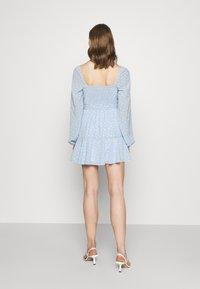 NA-KD - PAMELA REIF X ZALANDO OVERLAPPED FRILL MINI DRESS - Day dress - dusty blue - 2