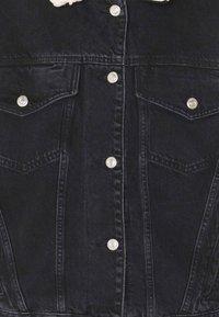 Topshop - BORG - Denim jacket - black - 2
