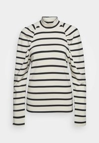 Gestuz - RIFELLA STRIPE TURTLENECK - Sweatshirt - black/white - 0