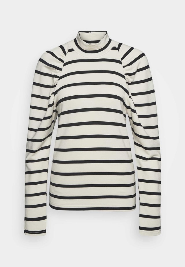 RIFELLA STRIPE TURTLENECK - Sweatshirt - black/white