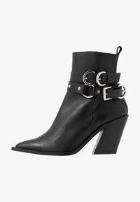 HADRIA WESTERN - Cowboy/biker ankle boot - black