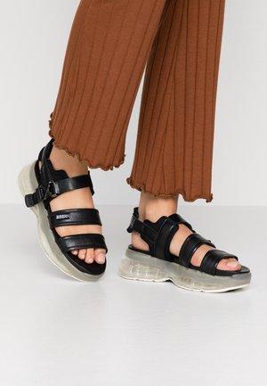 BUBBLY - Sandály na platformě - black