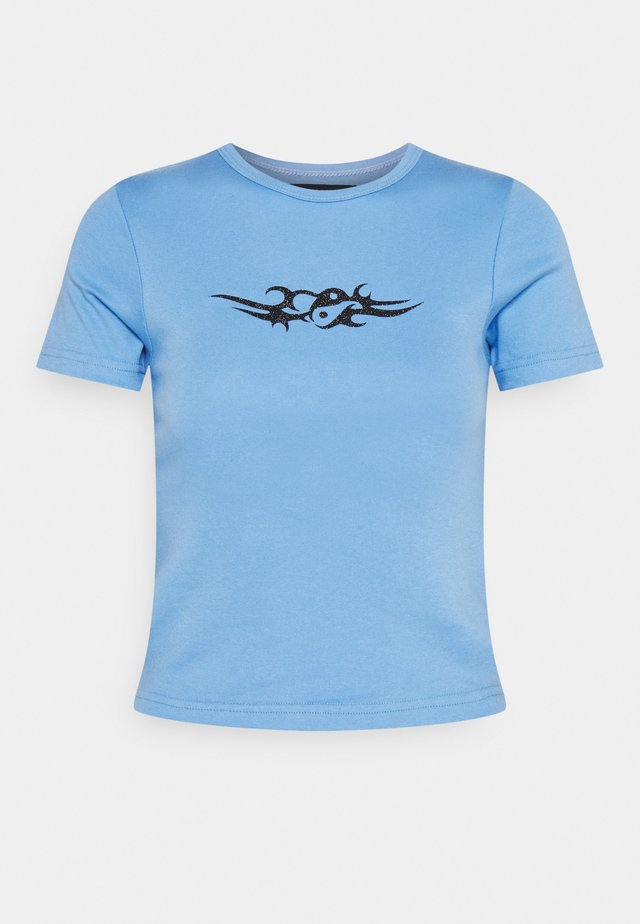 TRIBAL YIN YANG SLIM FIT  - T-shirt print - blue