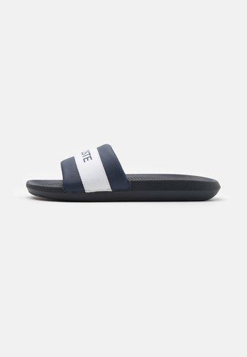 CROCO SLIDE - Slip-ins - navy/white