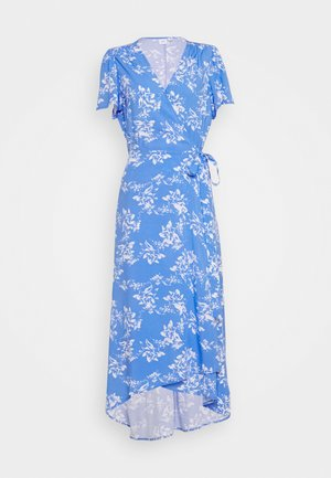 MIDI WRAP DRESS - Day dress - blue