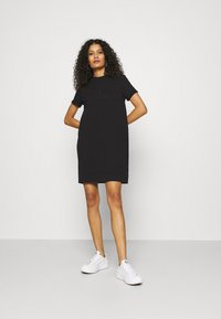 Calvin Klein Jeans - ARCHIVES DYE DRESS - Vestido ligero - black - 1