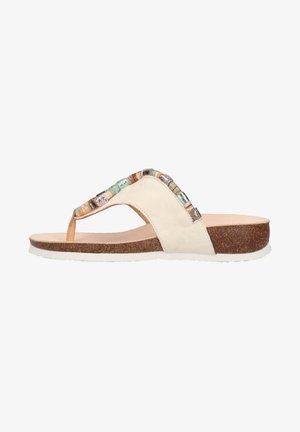 T-bar sandals - ivory/kombi