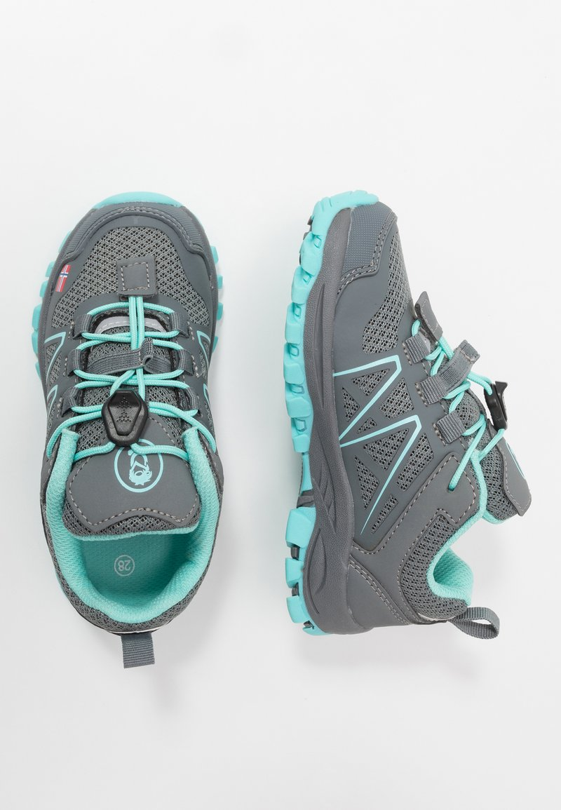 TrollKids - KIDS SANDEFJORD LOW UNISEX - Hiking shoes - anthracite/mint
