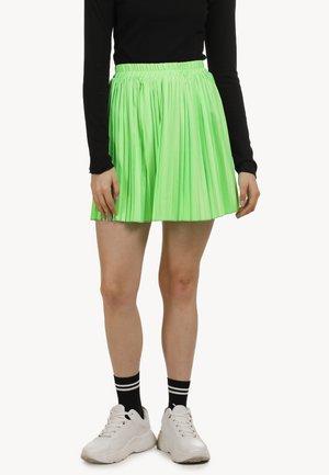 Veckad kjol - neon grün