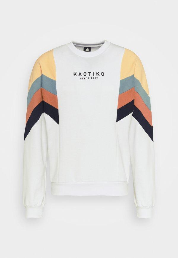 Kaotiko CREW SEATTLE UNISEX - Bluza - white/biały Odzież Męska CNTT