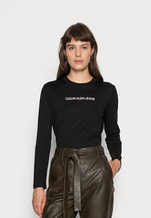 SHRUNKEN INSTITUTIONAL TEE - Bluzka z długim rękawem - black/muslin