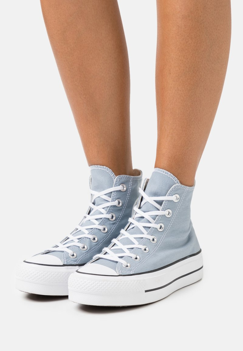 Converse - CHUCK TAYLOR ALL STAR LIFT - Baskets montantes - obsidian mist/white/black