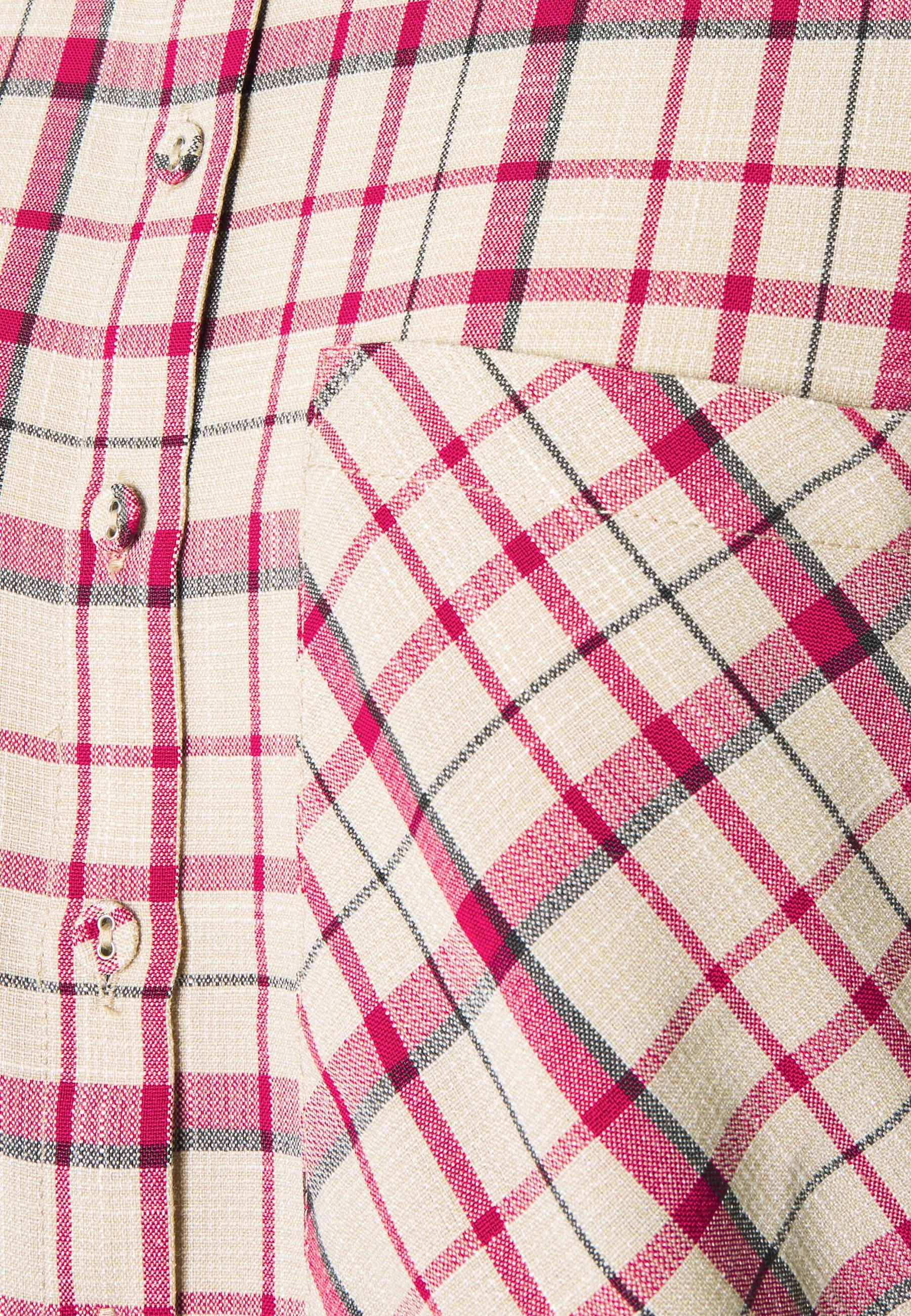 YAS EBRU - Shirt dress - fiery red