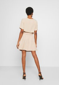 Vila - VIVERO SHORT SKIRT - A-line skirt - beige - 2