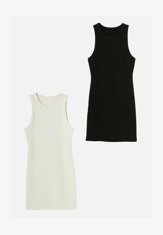 2 PACK - Denní šaty - black