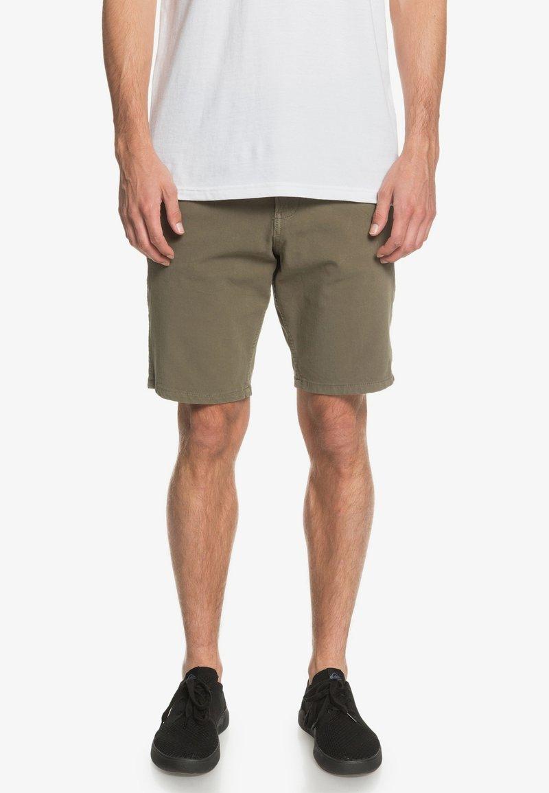 Quiksilver - Denim shorts - kalamata