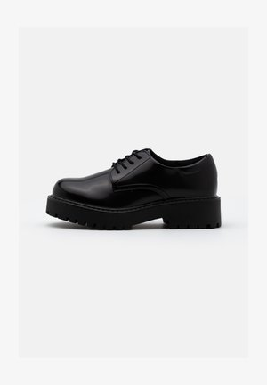 VEGAN DENISE SHOE - Oksfordki - black
