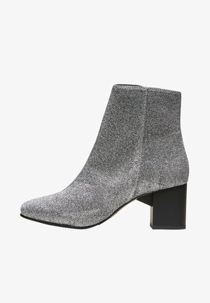 Classic ankle boots - silver