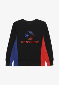 Converse - 3D EMBRIODERED COLOURBLOCK CREW - Sweatshirt - black - 2