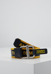 Tommy Jeans - LOGO TAPE BELT - Bælter - yellow - 0