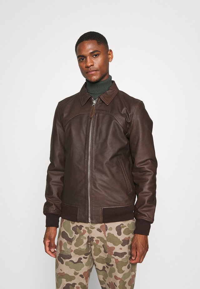 CALIFORNIA - Leather jacket - brown