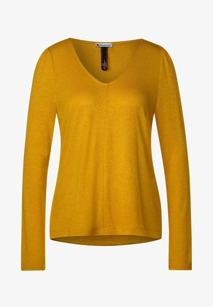 MIT PUFF-ÄRMELN - Long sleeved top - gelb
