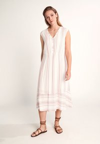 comma casual identity - GESTREIFTES - Day dress - white printed stripes - 0