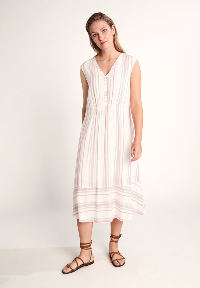 comma casual identity - GESTREIFTES - Day dress - white printed stripes