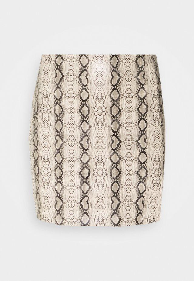 EVA SKIRT - Mini skirt - tan