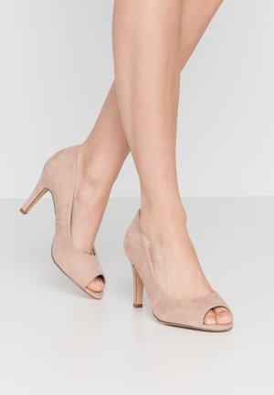 WIDE FIT ELAINE DETAIL  - Peeptoe heels - nude