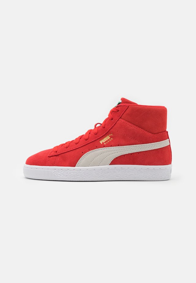 SUEDE MID XXI UNISEX - High-top trainers - high risk red/white