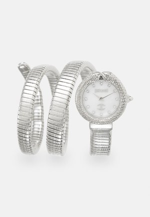 DROUBLE WRAP WATCH - Reloj - silver-coloured/white