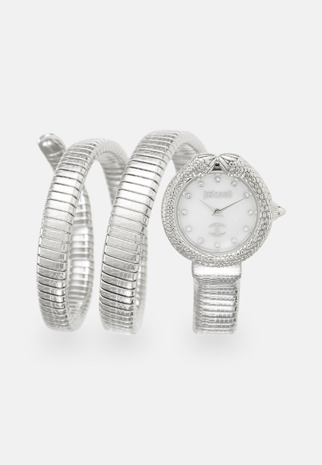 DROUBLE WRAP WATCH - Watch - silver-coloured/white