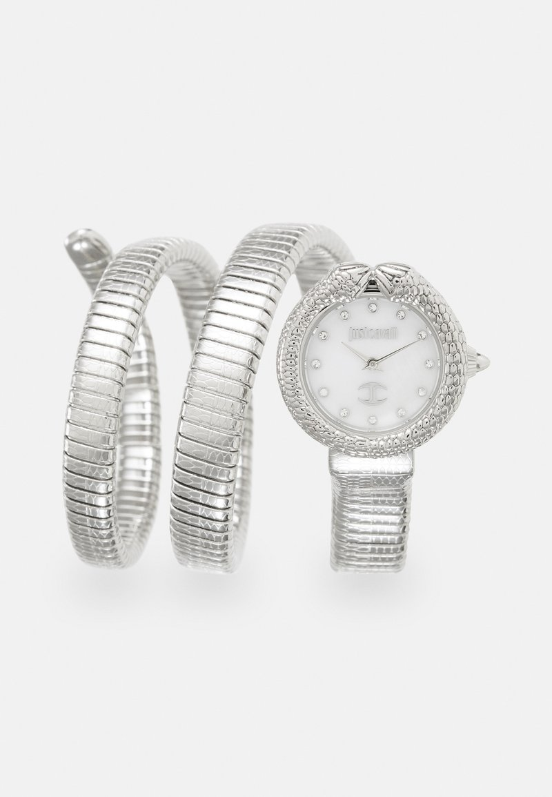 Just Cavalli - DROUBLE WRAP WATCH - Watch - silver-coloured/white
