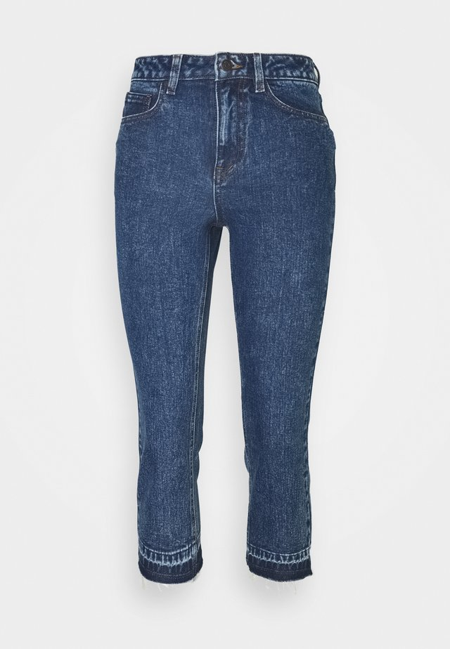 OBJCONNIE CROPPED - Jeans Slim Fit - dark blue denim