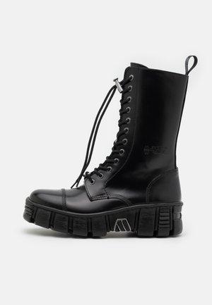 UNISEX - Bottes à lacets - black