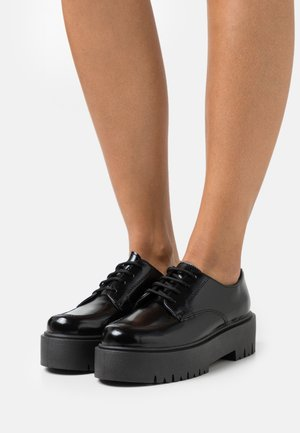 LINDON UP - Lace-up heels - black