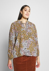 Cotton On Curve - CURVE MOCK NECK FRILL SLEEVE - Blouse - multi-coloured - 0