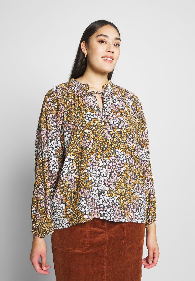 Cotton On Curve - CURVE MOCK NECK FRILL SLEEVE - Blouse - multi-coloured