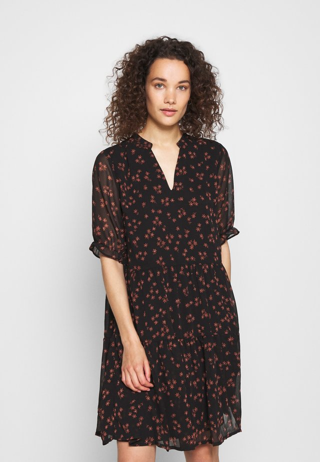 ERICA PRINT DRESS - Robe d'été - black