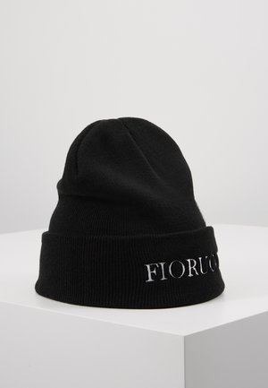 BEANIE WITH EMBROIDERED LOGO - Lue - black