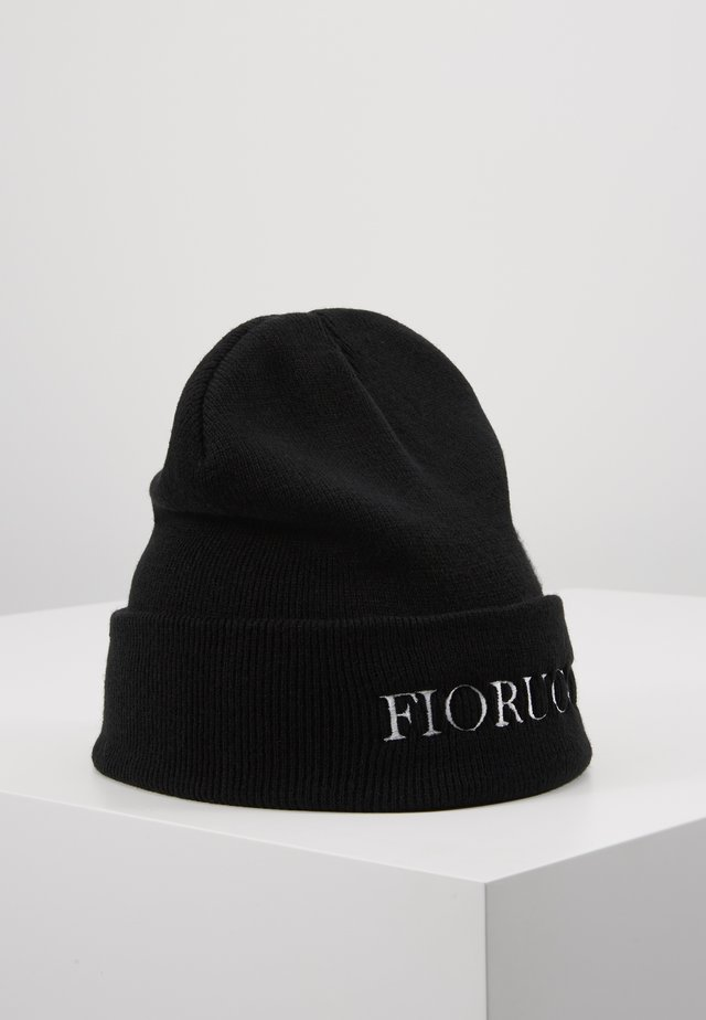 BEANIE WITH EMBROIDERED LOGO - Mössa - black