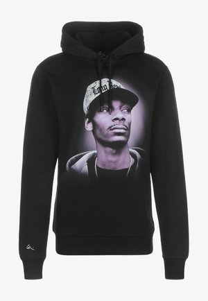 Hoodie - black/chrome/print purple