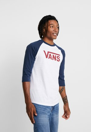 CLASSIC RAGLAN CUSTOM FIT  - Long sleeved top - white/dress blues/biking red