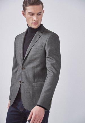 SLIM FIT  - Blazer jacket - mottled grey